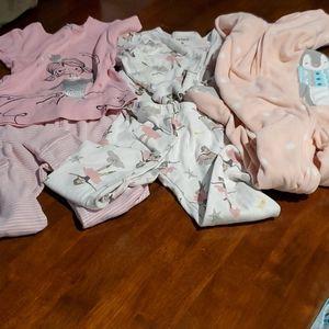 Bundle of 3 Sets of Girls Carter's Pajamas 3T